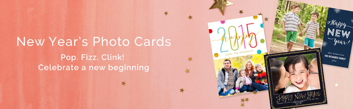 New Years Photo Cards
