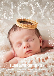 Holiday Photo Birth Announcements