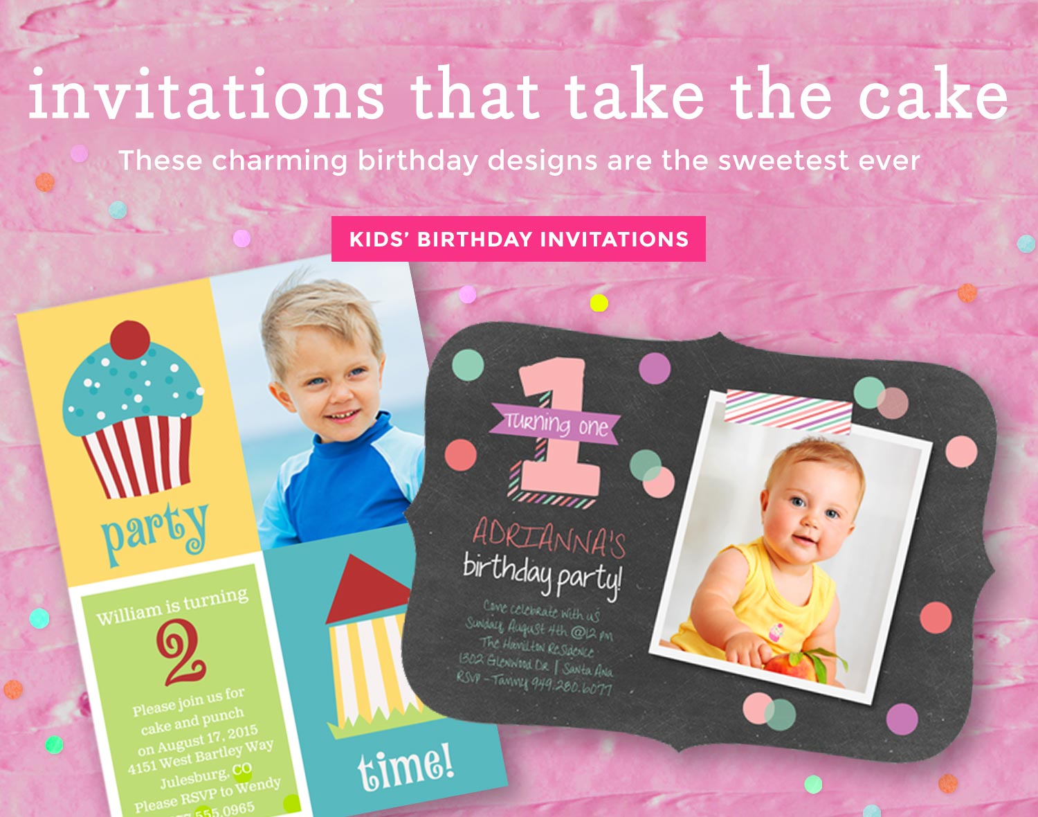 Kid's Birthday Invitations